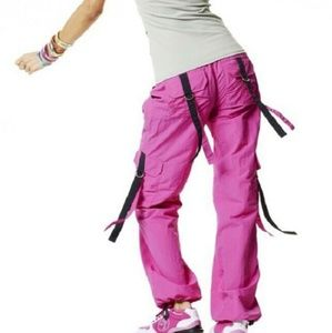 Zumba Fitness party in pink cargo pant medium